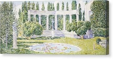 The Bartlett Gardens Canvas Print by Childe Hassam