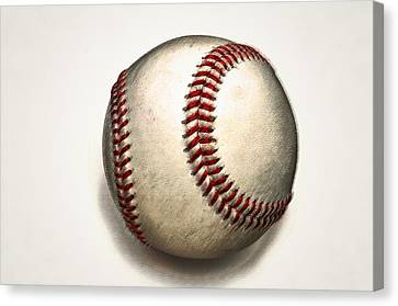 The Baseball Canvas Print by Bill Cannon