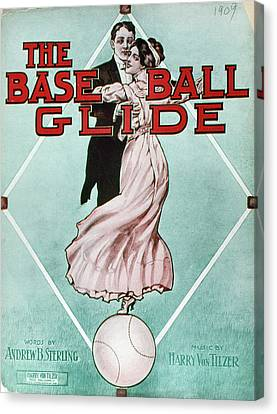 The Baseball Glide, 1909 Canvas Print