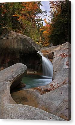 The Basin In The New Hampshire White Mountain National Forest Canvas Print by Juergen Roth