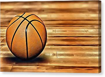 The Basketball Canvas Print by Florian Rodarte
