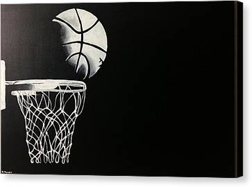 The Basketball Canvas Print by Sanjay Thamake