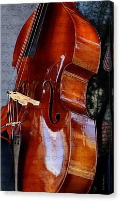 The Bass Of Music Canvas Print by Kae Cheatham