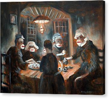 Canvas Print featuring the painting Tater Eatin by Randol Burns