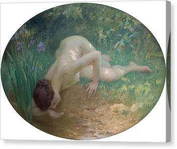 Charles River Canvas Print - The Bather by Charles Lenoir