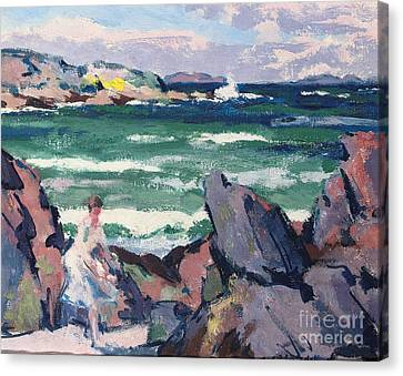 The Bather Canvas Print by Francis Campbell Boileau Cadell