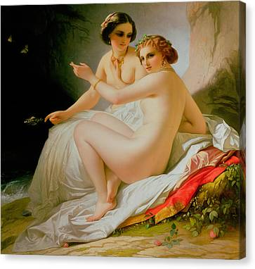 The Bathers Canvas Print by Louis Hersent