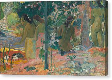 The Bathers Canvas Print by Paul Gaugin