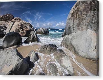 British Virgin Islands Canvas Print - The Baths At Virgin Gorda Bvi by Adam Romanowicz