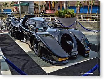 The Batmobile Canvas Print by Tommy Anderson