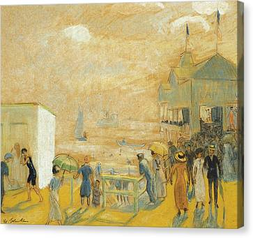 The Battery Canvas Print by William James Glackens