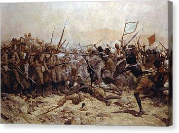 The Battle Of Abu Klea, 17th January Canvas Print by William Barnes Wollen
