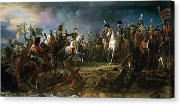 The Battle Of Austerlitz Canvas Print