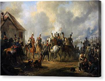 The Battle Of Bautersem During The Ten Days Campaign, 1833, By Nicolaas Pieneman 1809-1860 Canvas Print