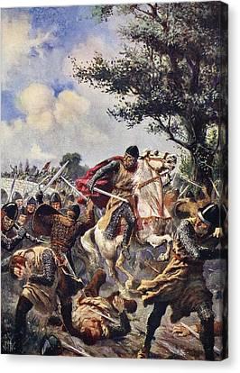 The Battle Of Bouvines, 1214 Canvas Print by John Harris Valda