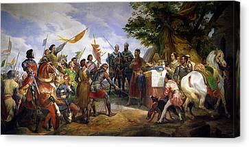 The Battle Of Bouvines Canvas Print
