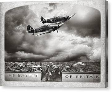 The Battle Of Britain Canvas Print by Peter Chilelli
