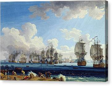 The Battle Of Chesma On The 5th July 1770 Canvas Print