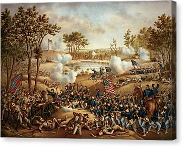 The Battle Of Cold Harbor Canvas Print by Kurz and Allison