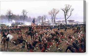 The Battle Of Fredericksburg Canvas Print by Carl Rochling