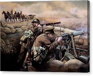Infantryman Canvas Print - the battle of Fromelles by Chris Collingwood