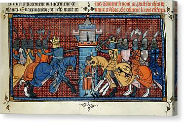 The Battle Of Gisors Canvas Print by British Library