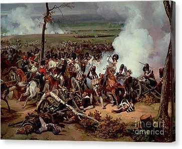 The Battle Of Hanau Canvas Print by Emile Jean Horace Vernet