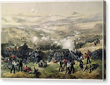 The Battle Of Inkerman, 5th November 1854, 1855 Colour Litho Canvas Print by Andrew Maclure