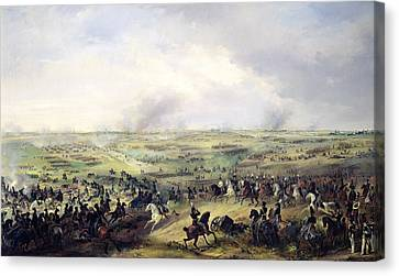 The Battle Of Leipzig, 16-19 October 1813 Oil On Canvas Canvas Print by Alexander Ivanovich Sauerweid
