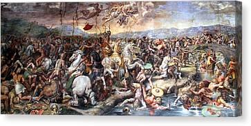 The Battle Of Milvian Bridge Canvas Print