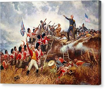 The Battle Of New Orleans Canvas Print by Percy Moran