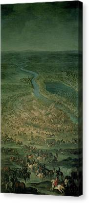 The Battle Of Senta, 11th September, 1697 At Which The Imperial Troops Of The Austrian Empire Canvas Print