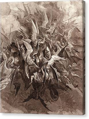 The Battle Of The Angels Canvas Print