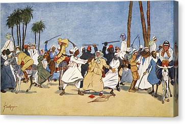 The Battle Of The Nile, From The Light Canvas Print by Lance Thackeray