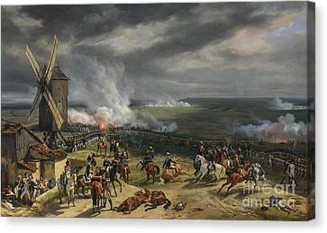 The Battle Of Valmy Canvas Print by Celestial Images