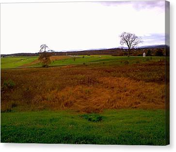 Canvas Print featuring the photograph The Battlefield Of Gettysburg by Amazing Photographs AKA Christian Wilson