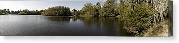 The Baughman Center At The University Of Florida Panoramic. Canvas Print by William Ragan