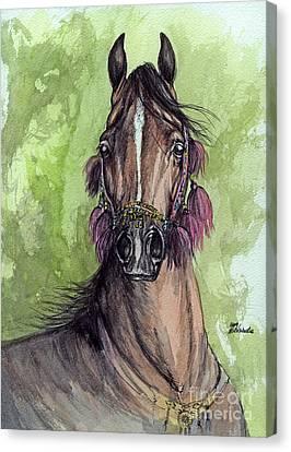 The Bay Arabian Horse 16 Canvas Print by Angel  Tarantella