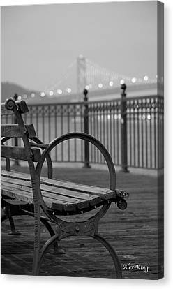 The Bay Bridge Canvas Print by Alex King