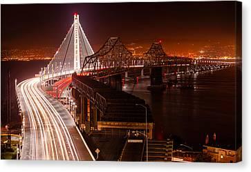 The Bay Bridges Canvas Print by Alexis Birkill