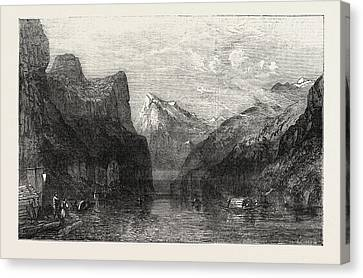 Lucerne Canvas Print - The Bay Of Uri Lake Of Lucerne by Smith. William Collingwood (1815-1887), British