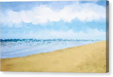 The Beach Abstract Art Canvas Print by Ann Powell