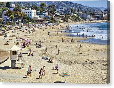The Beach At Laguna Canvas Print by Kelley King