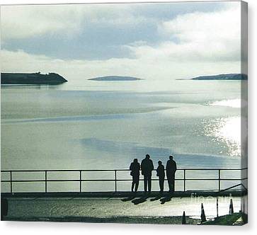 The Beach At Tighnabruaich Canvas Print by Joan-Violet Stretch