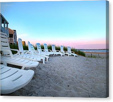 The Beach Chairs Canvas Print by Betsy Knapp