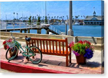The Beach Cruiser Canvas Print by Michael Pickett