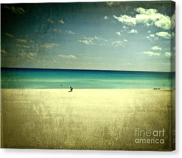 The Beach - From My Iphone Canvas Print by Mary Machare