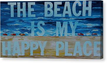 The Beach In My Happy Place Two Canvas Print by Patti Schermerhorn