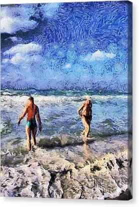The Beach Canvas Print by Odon Czintos