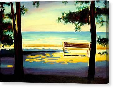 The Beach Canvas Print by Sheila Diemert